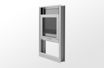 YVS 400 TU Thermally Broken Hung Window with Monolithic or Insulating Glass