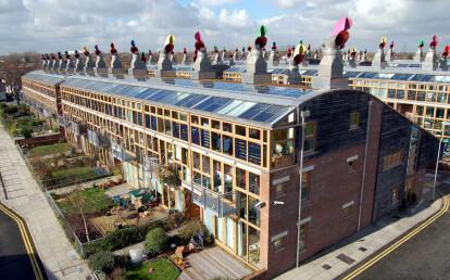 BedZED Façade, Sunshading & Overhead Glazing   England