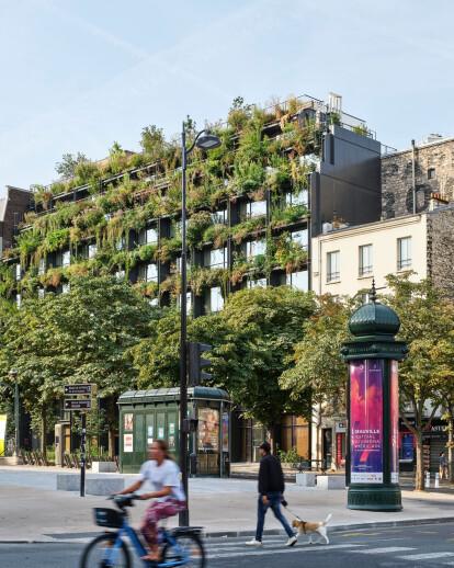 Dynamic healthcare building concept Villa M by Triptyque sees architecture and landscape invert roles