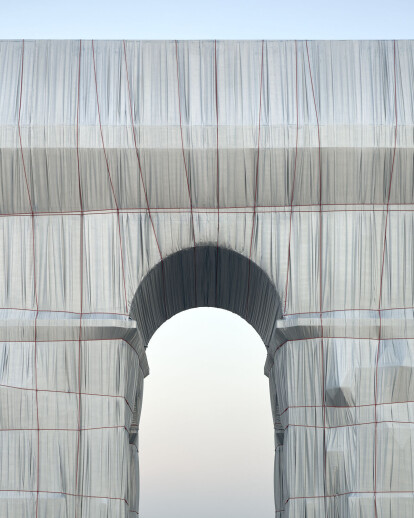 Christo realizes the vision of a wrapped L'Arc de Triomphe