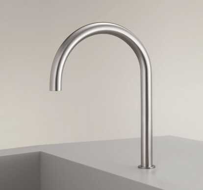 FRE144 - Deck mounted swivelling spout with undertop optional fixing