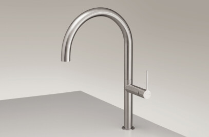 INV09 - Deck mounted mixer with swivelling spout (H. 435 mm)